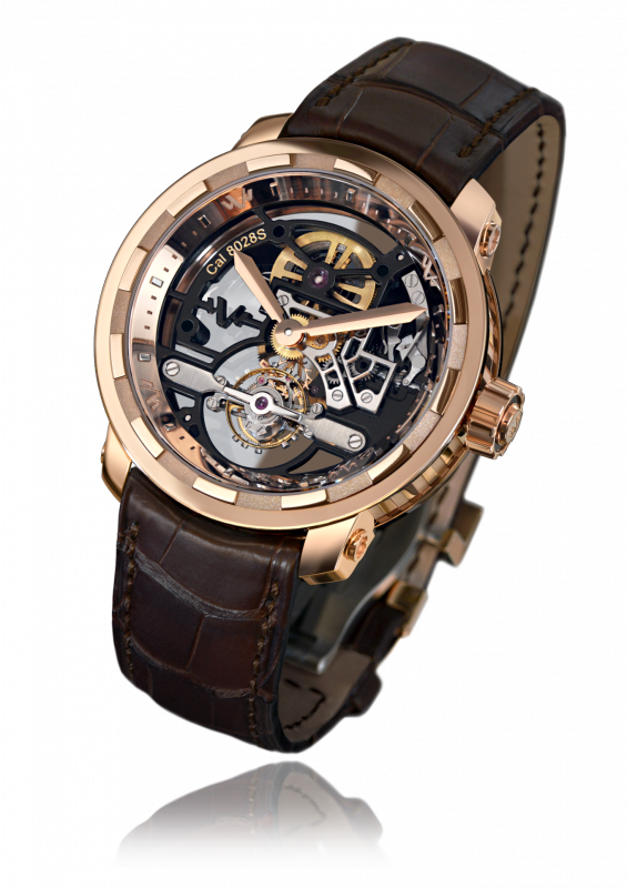 Twenty-8-Eight Skeleton Tourbillon, manually wound movement, rose gold - T8.TH.008A