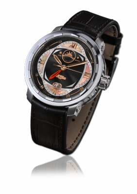Twenty-8-Eight GMT2 Poetic, automatic movement (GMT, date, day/night), neotitanium - T8.POE.001