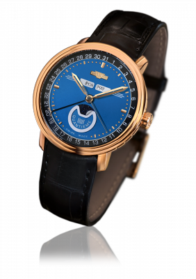 Classic Quantieme, automatic movement, rose gold - CLA.QUA.003