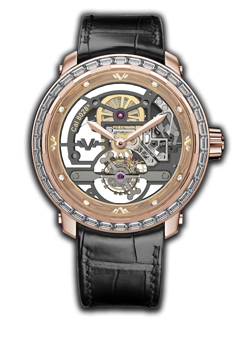 Twenty-8-Eight Skeleton Tourbillon, rose gold and high jewellery- T8.TH.025