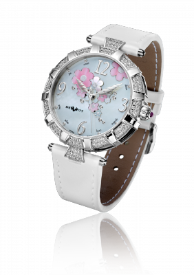 Golden Afternoon, automatic movement, white gold set with diamonds - GA.AU.003
