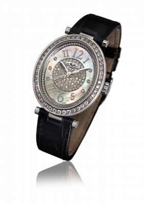 Alma, automatic movement, white gold set with diamonds - AL.006