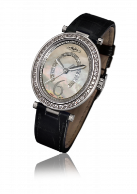 Alma, automatic movement, white gold set with diamonds - AL.004
