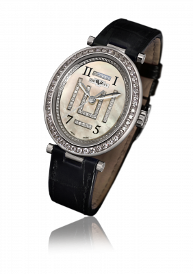 Alma, automatic movement, white gold set with diamonds - AL.005