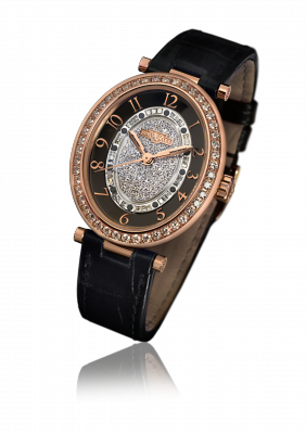 Alma, automatic movement, rose gold set with diamonds - AL.003