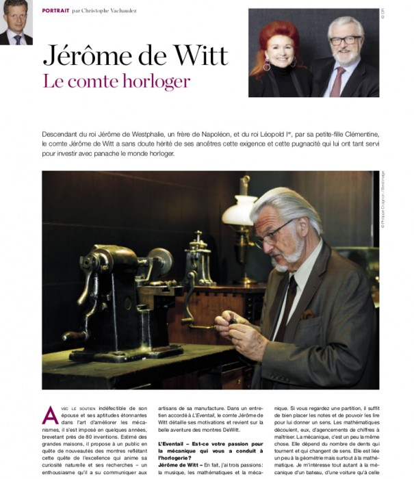 Count Jérôme de Witt's Interview in L'Eventail magazine