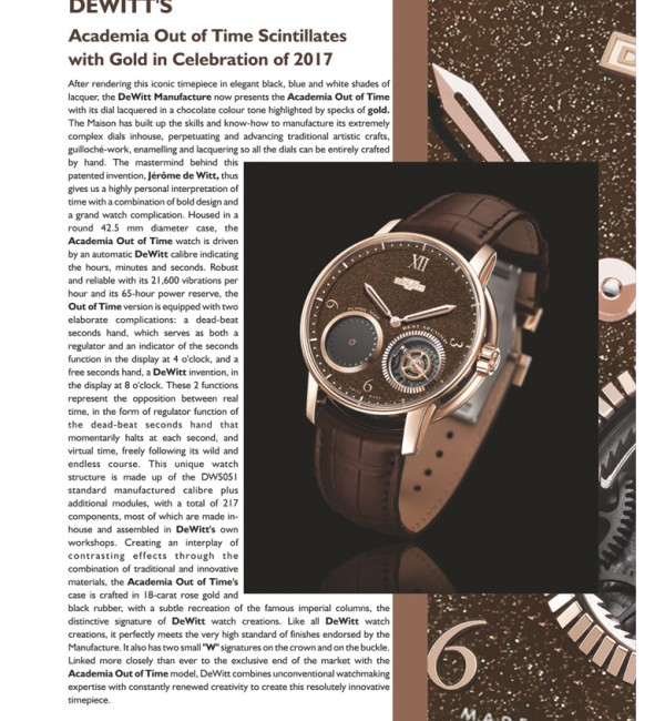 Sparkling Out of Time in Trade Post-The International Watch & Clock, February 2017