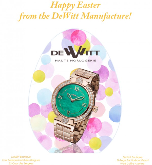 Easter greetings from the DeWitt Manufacture!