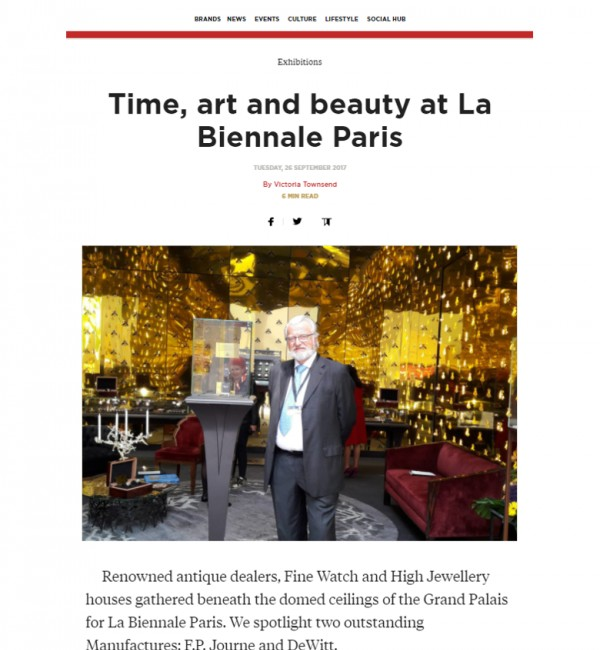 Manufacture DeWitt's first time at the Biennale of Paris